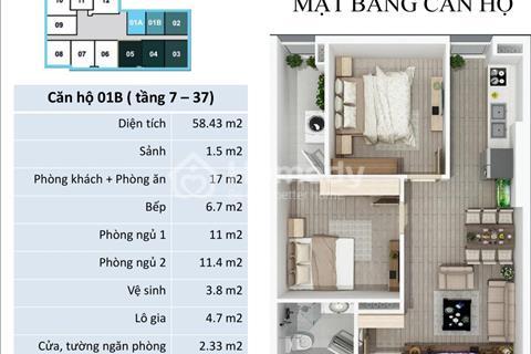 Chung cư cho thuê căn hộ 2 phòng ngủ chung cư FLC 418 Quang Trung giá 5triệu/tháng, có nội thất