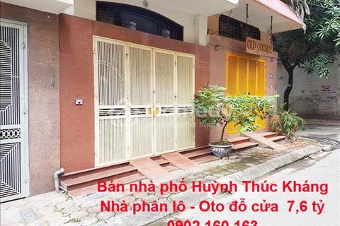 Bán nhà Huỳnh Thúc Kháng, vỉa hè, ô tô đỗ cửa, kinh doanh, 7,6 tỷ