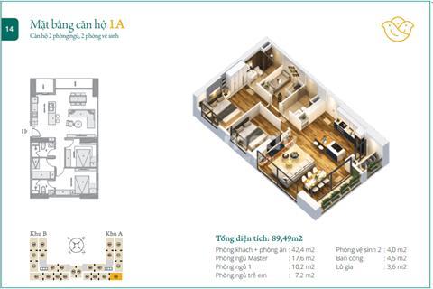 Căn hộ cao cấp 3 phòng ngủ dự án Anland, giá 1.8 tỷ, chuẩn bị nhận nhà