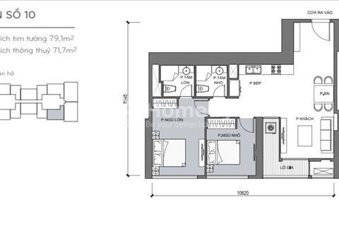 Bán thu hồi vốn căn hộ Landmark, 5 tầng trung căn số 10, Vinhomes Central Park