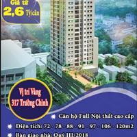 Tặng 100 triệu, dự án chung cư cao cấp Tân Hồng Hà Complex, Thanh Xuân giá 2,6 tỷ, căn hộ 73m2