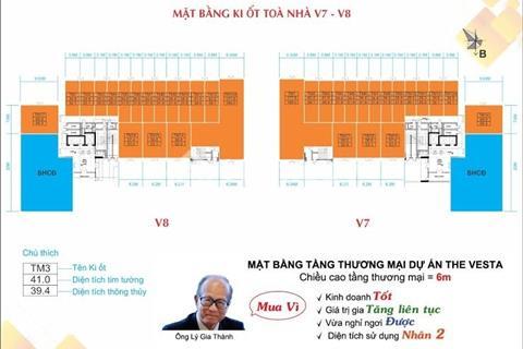 Bán kiot The Vesta Phú Lãm căn góc Tòa V8 - View trường học và cổng dự án