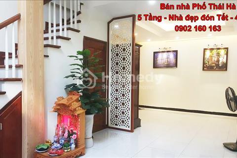 Bán nhà Thái Hà, 40m2, 5 tầng, kinh doanh, bán gấp 4,75 tỷ