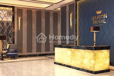 Bán ngay căn 2 phòng ngủ Sài Gòn Royal, 60m2 view hồ bơi, sông Sài Gòn, 3,8 tỷ