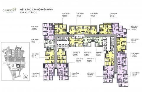Bán chung cư Vinhomes Gardenia, tầng 1808, diện tích 73,1m2, tòa A1, giá 2,5 tỷ