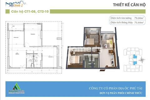 Cần bán căn hộ 2 phòng ngủ tầng 16, 18 chung cư Mỹ Đình Plaza 2