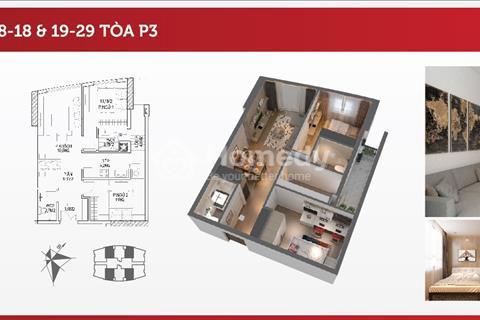 Bán gấp căn số 2307 tòa P3, căn hộ 2 phòng ngủ hướng nam - giá bán 1,980 tỷ bao hết phí
