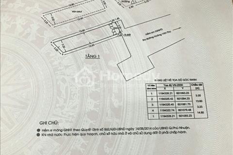 Chính chủ bán gấp nhà 123/22/9L Hoàng Văn Thụ, Phường 8, Quận Phú Nhuận