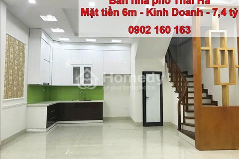 Bán nhà phố Thái Hà vào nhà, kinh doanh, mặt tiền 5,6m, giá 7,4 tỷ