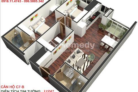 Gấp, Bán căn hộ căn 115m2 tầng 23 tòa N01B Golden Land