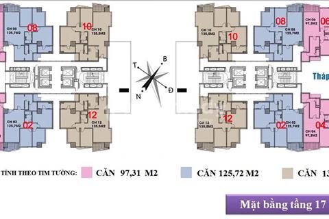 Cần bán căn hộ tầng 2206 tháp B chung cư New Skyline Văn Quán, diện tích thông thủy 98m2