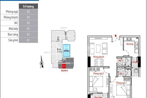 Bán căn hộ mẫu Him Lam Riverside giai đoạn 2 D.1.5, giá 3,1 tỷ