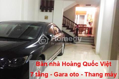 Bán nhà Hoàng Quốc Việt 7 tầng, thang máy, vỉa hè, gara ô tô giá chỉ 7,8 tỷ