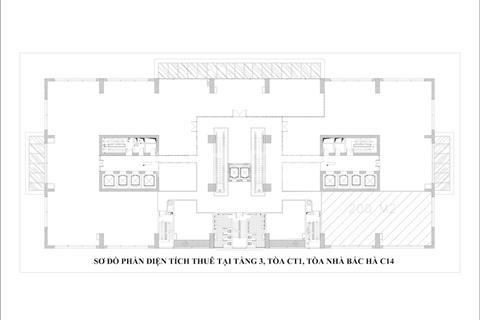 Cho thuê văn phòng tòa C14 Bắc Hà, Tố Hữu, giá 9$/m2, còn nhiều diện tích lựa chọn.