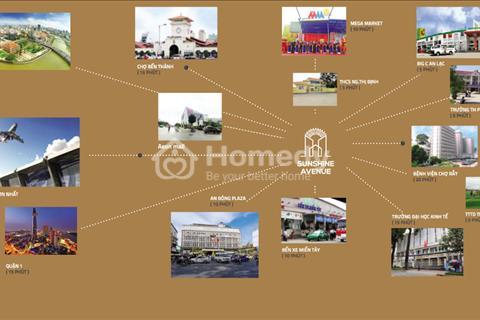 Bán căn hộ Sunshine Avenue, Võ Văn Kiệt, Quận 8, giá chỉ từ 1,1 tỷ