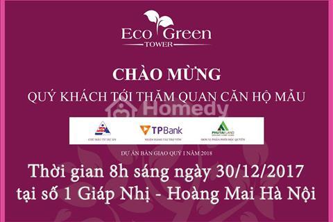 Eco Green Tower mở bán ngày 30/12 tặng vàng và xe máy cho khách hàng tham dự và thăm quan căn hộ